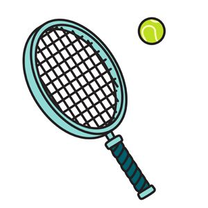 Pin By John R On Vector Illustrations Tennis Racket Tennis Tennis Ball