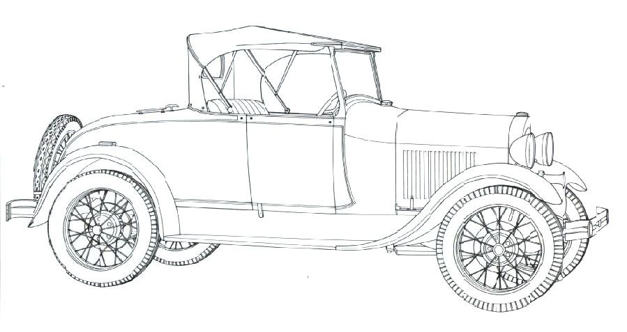 Classic Car Coloring Pages  Model A Ford 1928  Child Crafts and