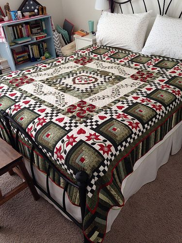 My wedding quilt by HappierThanABirdQuilts, via Flickr
