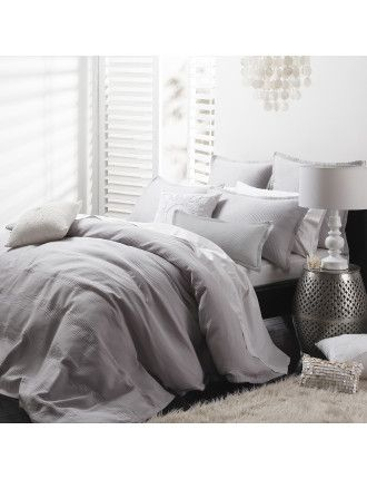 Manhatten Silver Queen Bed Quilt Cover Set | David Jones | Linen ... : quilt cover sets david jones - Adamdwight.com