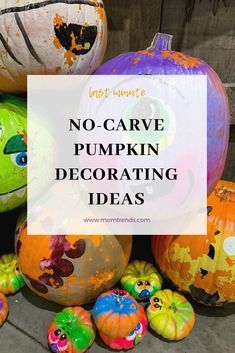 Quick and easy no carve pumpkin decorating ideas that kids can do halloween halloweenfun pumpkindecorating familyfun kidfriendly kidcrafts also rh pinterest