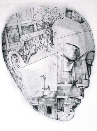 "Wuon Gean Ho,  ""Lucid Street, A.P."",  2010,  Vinyl Print,  56 x 38 cm"
