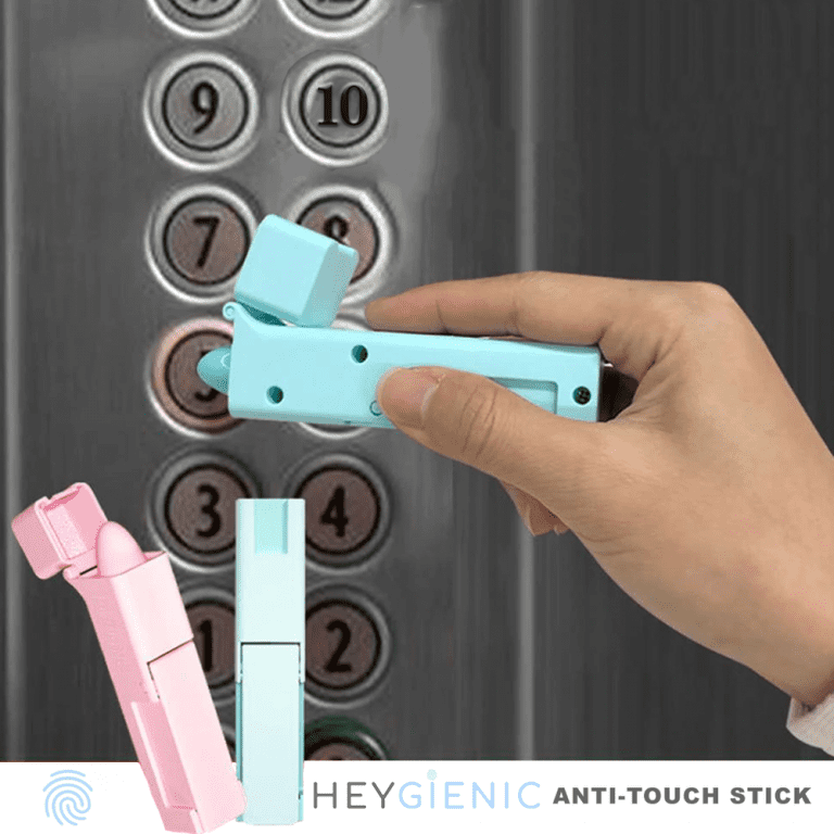 Never Touch An Elevator Button Or Open A Door Again With This Self Sanitizing Stick In 2020 Door Handles Credit Card Machine Elevator Buttons