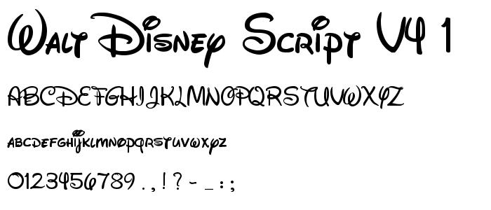 Walt Disney Script v4.1 font - many free downloadable fonts | Wrap ...