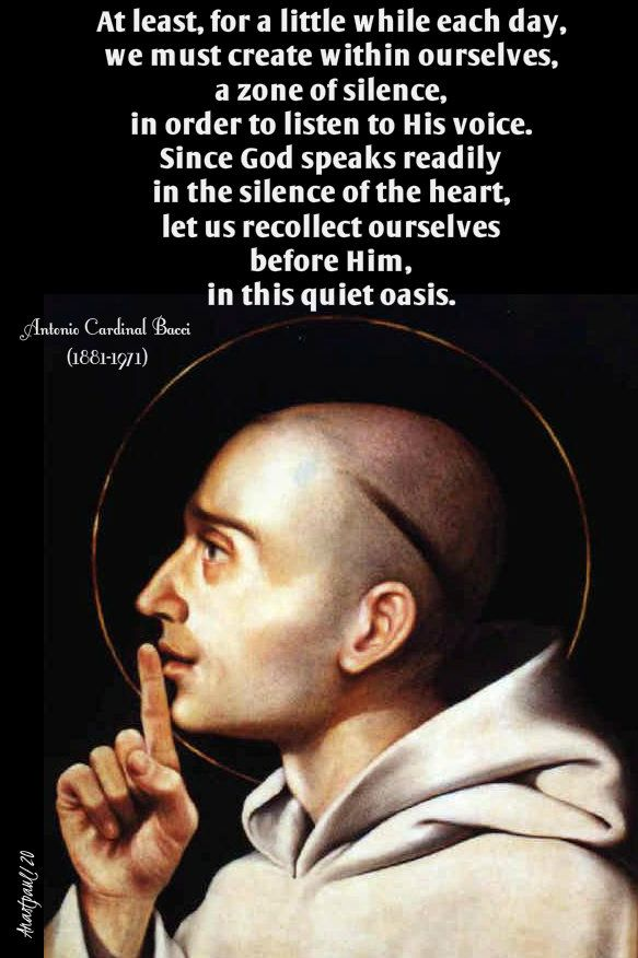 Thought for the Day – 2 January – Silence in 2020 | Saint ...