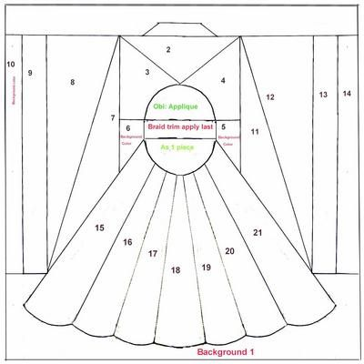 Kimono pattern | Applique Templates for Fabric/Paper ...
