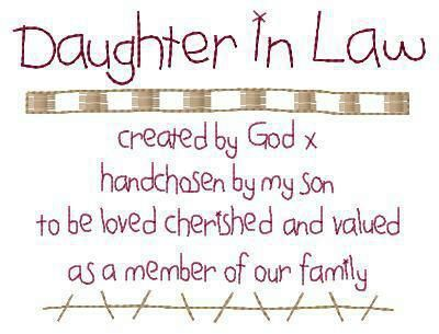 To My Daughter In Laws Katy Christine Or As I Say My Daughters