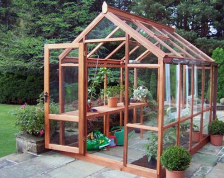 Very Cute Cedar Greenhouse Greenhouse Plans Wooden Greenhouses