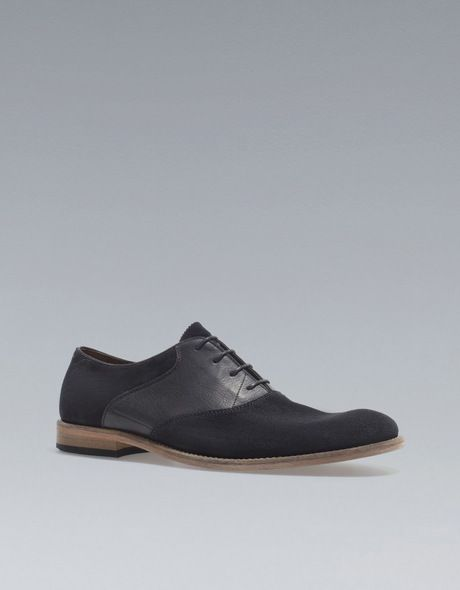 b721d1235c0e Zara Desert Shoe in Blue for Men (navy blue) - Lyst