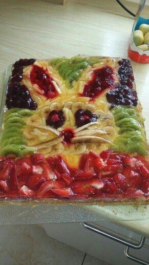 Kuchen mit obst belegen
