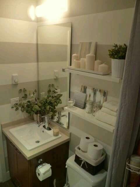 Colores neutros en el baño.   Cuartos de baños pequeños ...