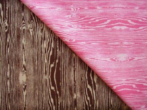 Faux bois fabric