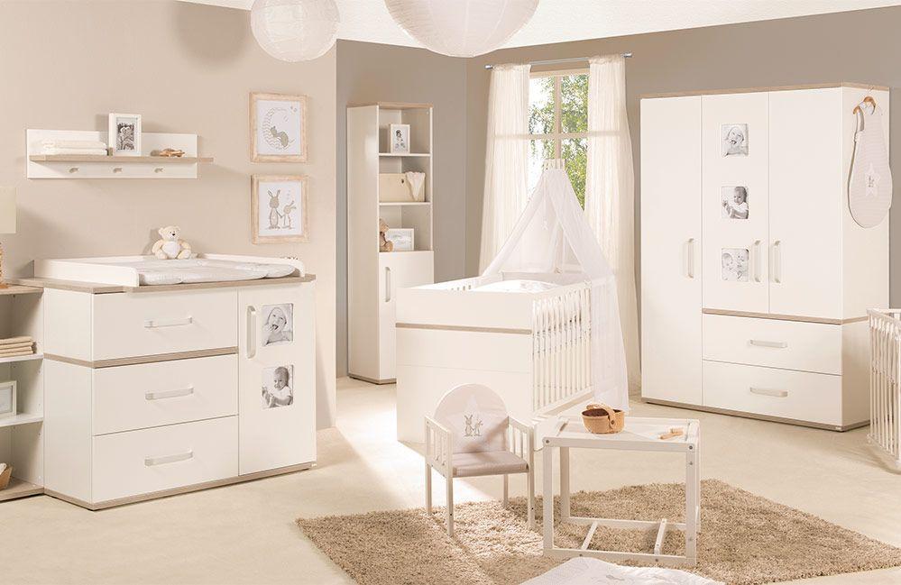 ROBA Kinderzimmer Moritz mit breiter Wickelkommode Weiß