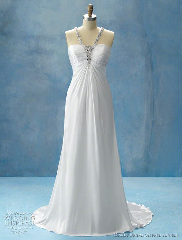 Disney fairy tale weddings by alfred angelo princess jasmine princess jasmine wedding dress featuring flowing soft shimmer satin and a micro ruched junglespirit Gallery