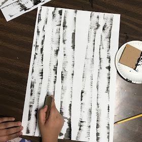 4th Grade Fall or Winter Birch Trees