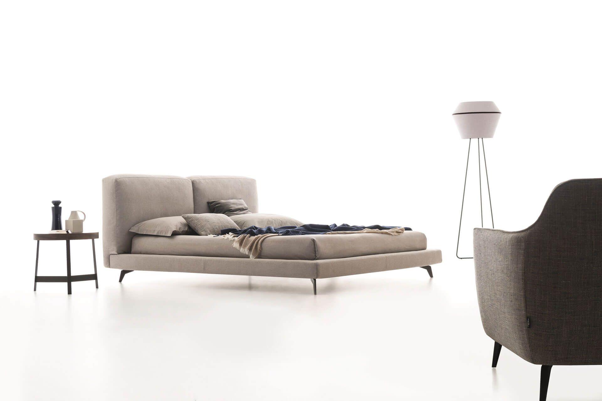 Designermöbel im von Lederbett, Bett ideen