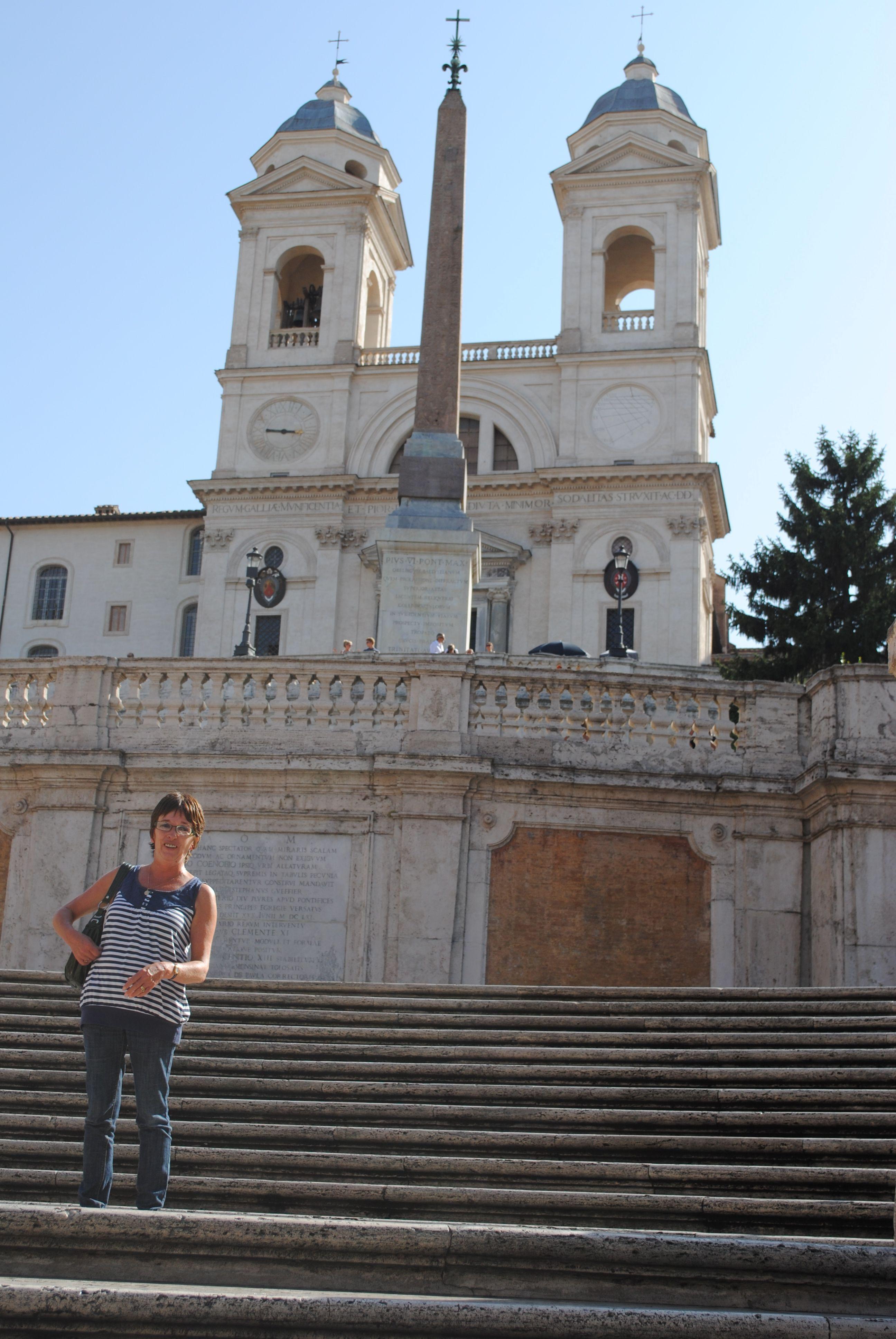 Rome - Chris on the Spanish Steps - pete holbrook