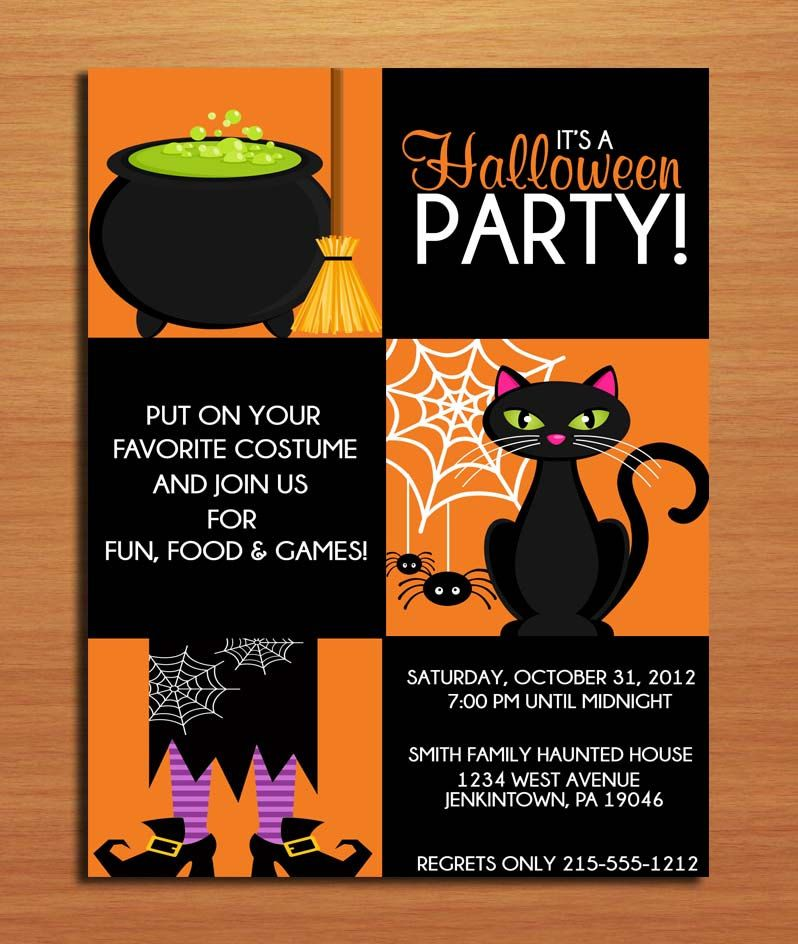 Halloween Party Invites (With images) | Halloween birthday party ...