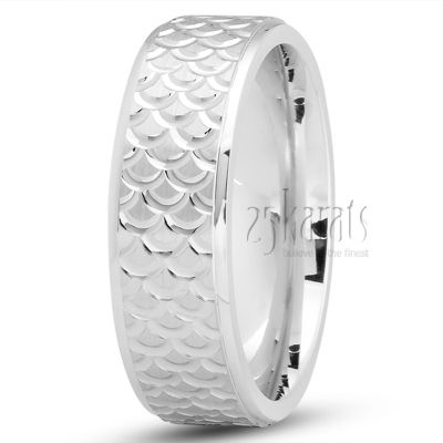 14k Gold Fish Scale Style Wedding Ring Fc100720 Beautiful Gold Wedding Rings Wedding Rings Fishing Wedding