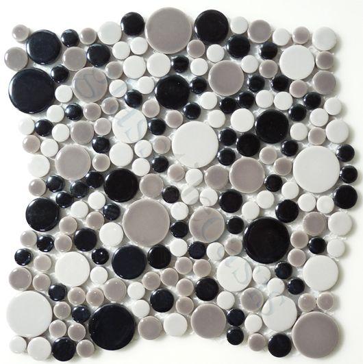 unicorn penny rounds series circles smoke glossy grey porcelain rh pinterest ca