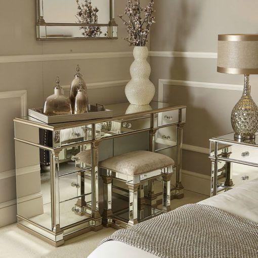 Athens Gold Mirrored 9 Drawer Dressing Table in 2020 ...