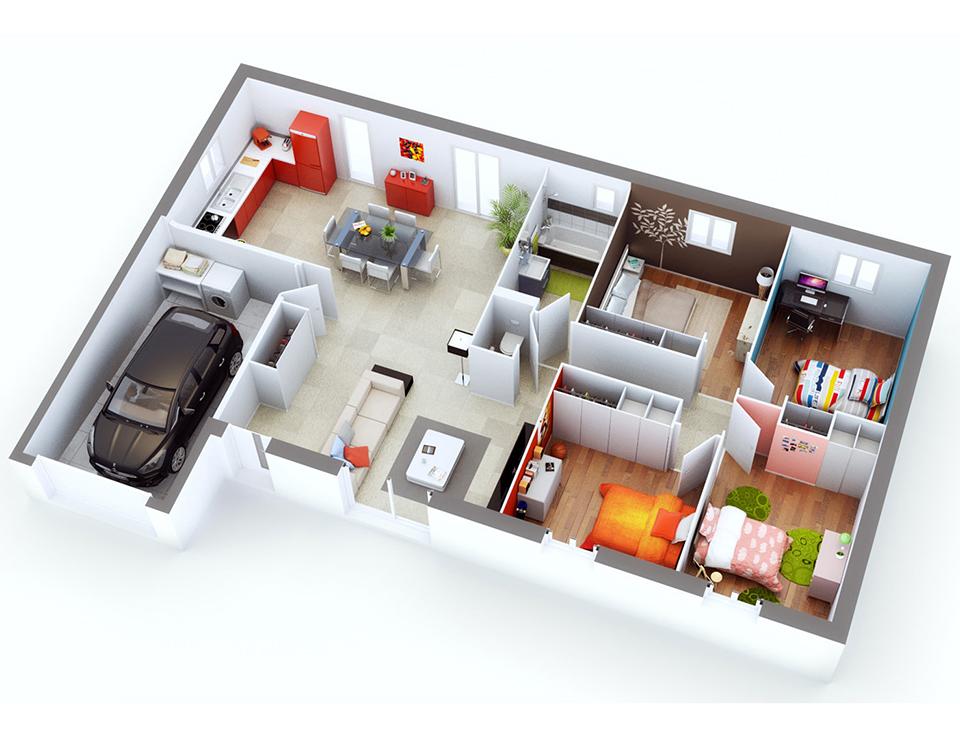 maison petit budget lourmarin top duo plan 3d maison family en 2019 pinterest. Black Bedroom Furniture Sets. Home Design Ideas