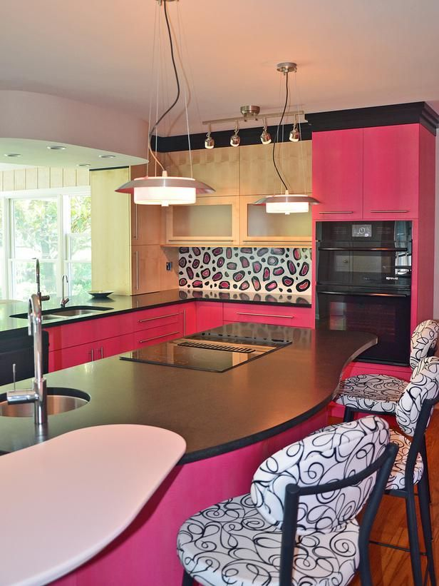 Very cool.  Pink: Art Deco Pizzazz in 30 Bright, Bold and Colorful Kitchens from HGTV