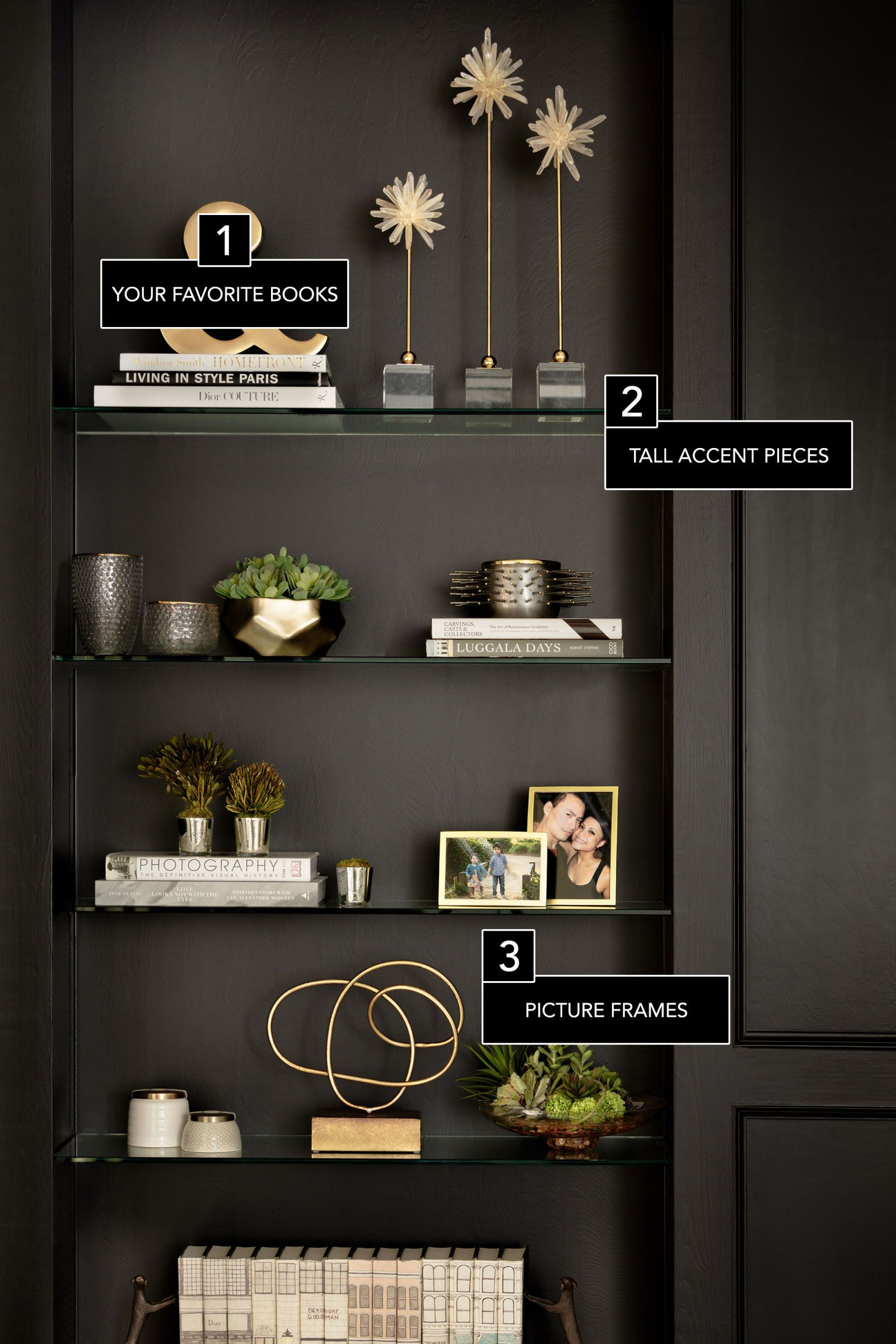 6 Secrets To A Perfectly Styled Bookcase #decoratingtips