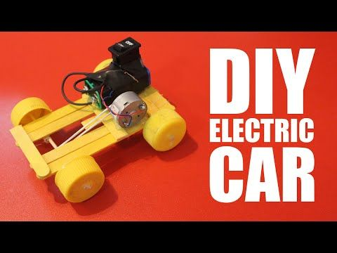 How to make a battery powered car - DIY electric car - YouTube