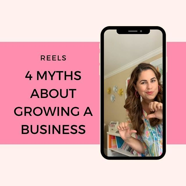 4 Myths About Growing or Starting A Business... . And when you're ready to flourish, join me in my Blooming Business Inner Circle.✨🙌🏼💵💯 . #BloomingBusiness #SweetLifeSisterhood #CommunityOverCompetition #creativepreneur #businessbydesign #calledtobecreative #creativepreneur #creativityfound #createcultivate #starttodayjournal #bossmom #womenceo #mompreneur #womeninbusiness #entrepreneurlife #makersgonnamake #savvybusinessowner #makersmovement #girlstopapolog