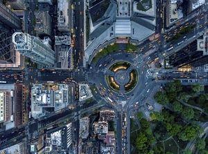 Columbus Circle by Ph. Jeffrey Milstein