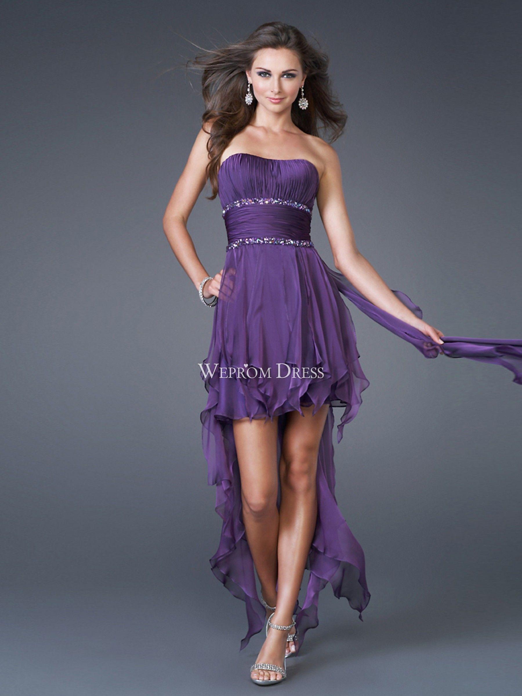 Resultado de imagen para vestidos cortos de fiesta strapless | Prom ...