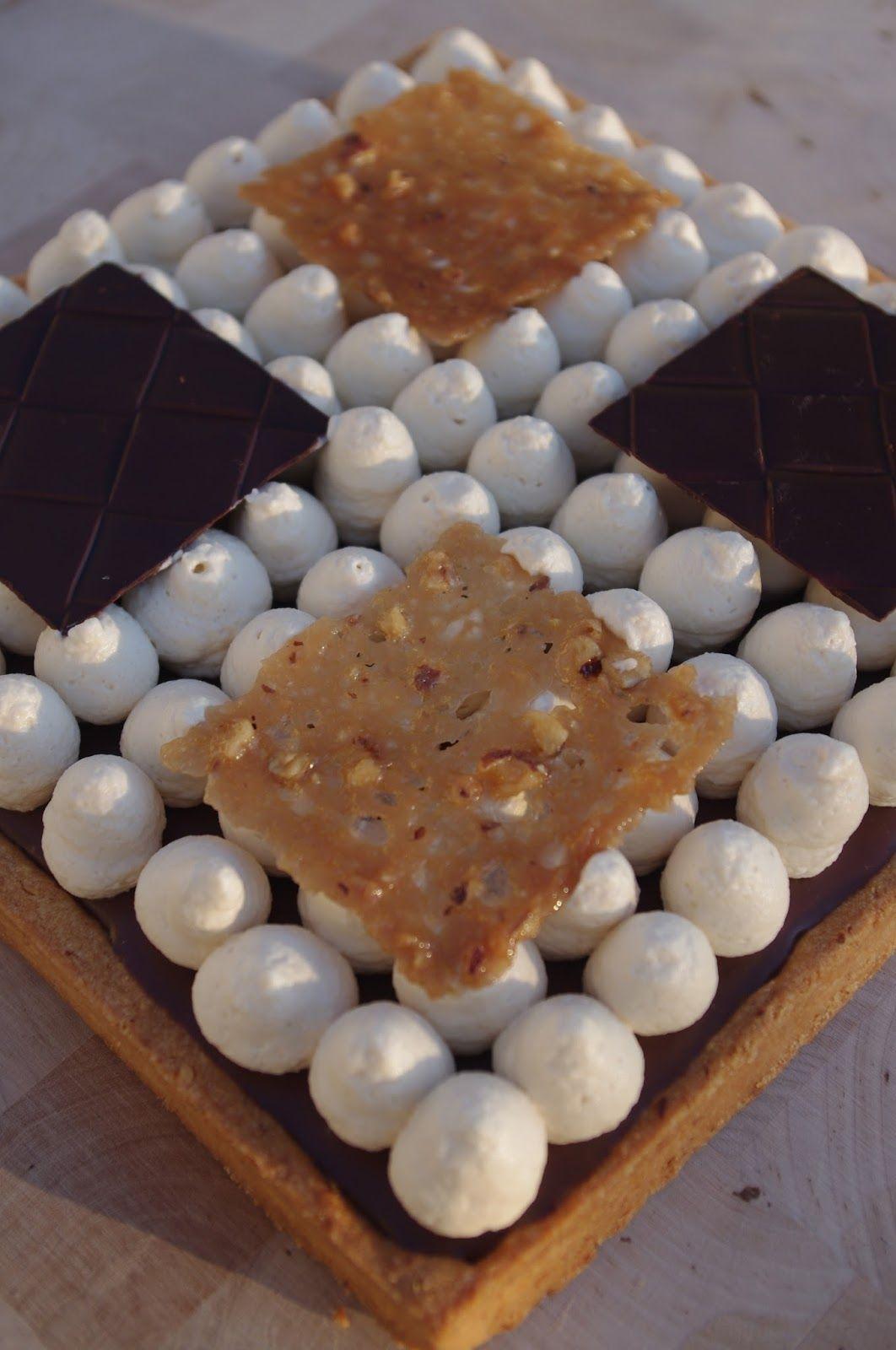 J'en reste baba: Tarte 3 chocolats et caramel à la fleur de sel
