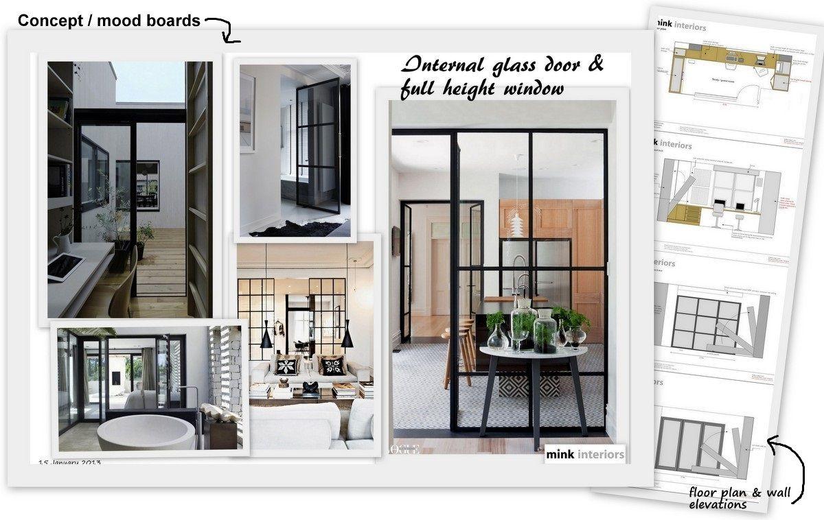 Internal glass window ideas pinterest interiors for Inspiration concept interior design llc