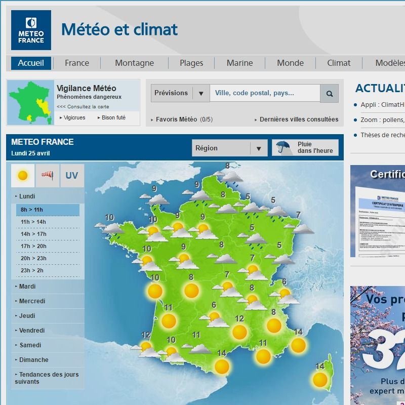 PREVISIONS METEO FRANCE - Site...