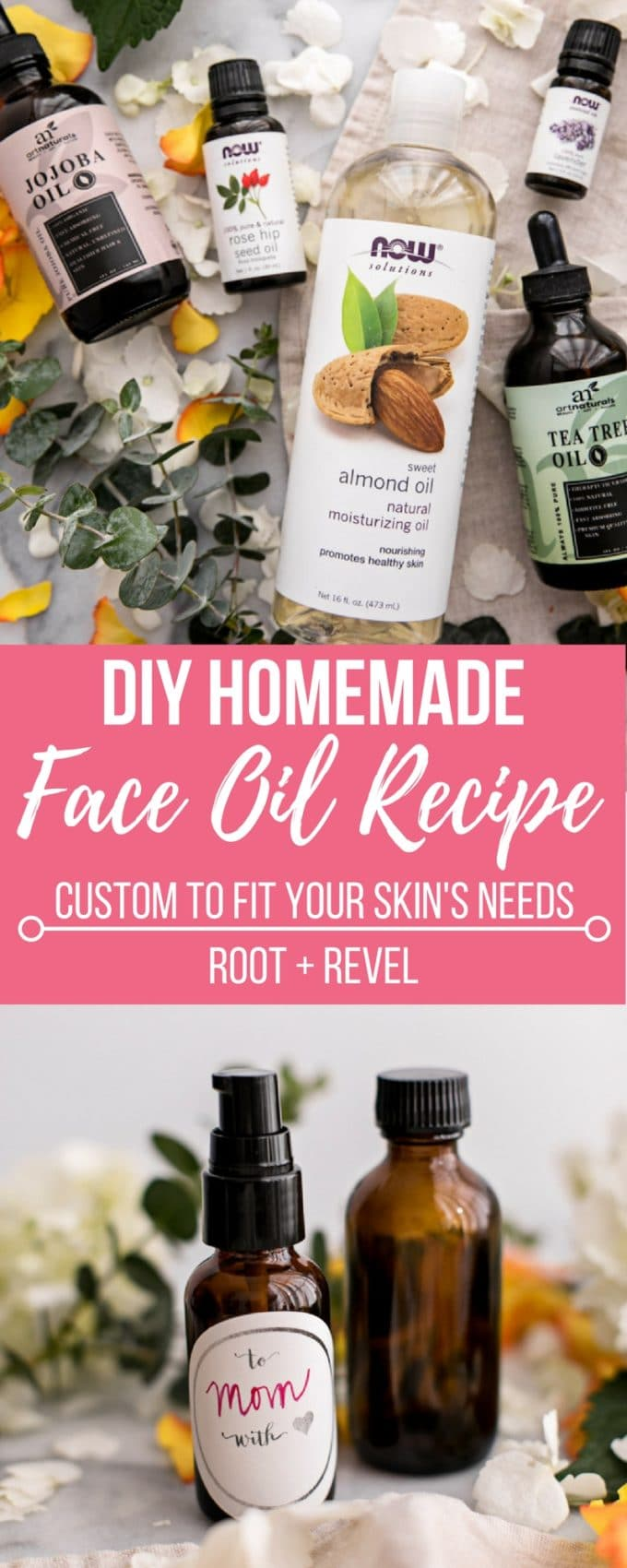 Custom DIY Homemade Face Oil Recipe #homemadefacelotion