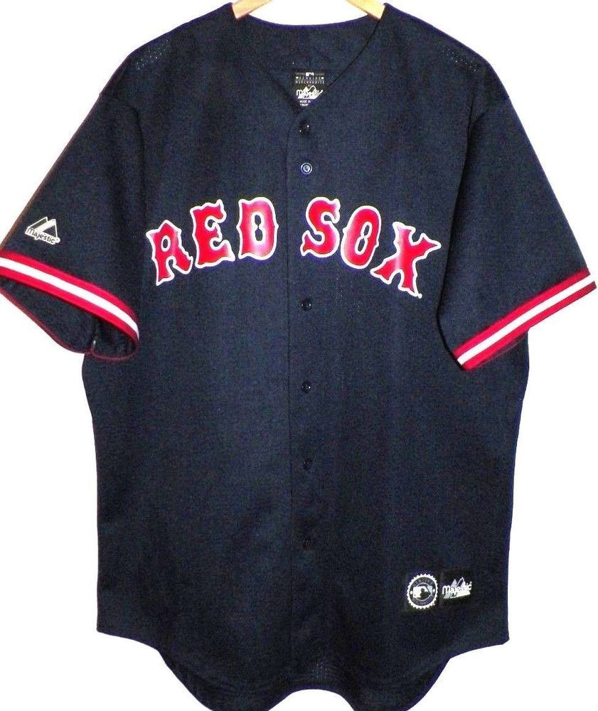 Men s L Boston Red Sox Blue Manny Ramirez Jersey Majestic USA (eBay Link) b0c42359a76