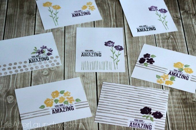 7 Amazingly Easy Cards Made With One Stamp Set Card Making