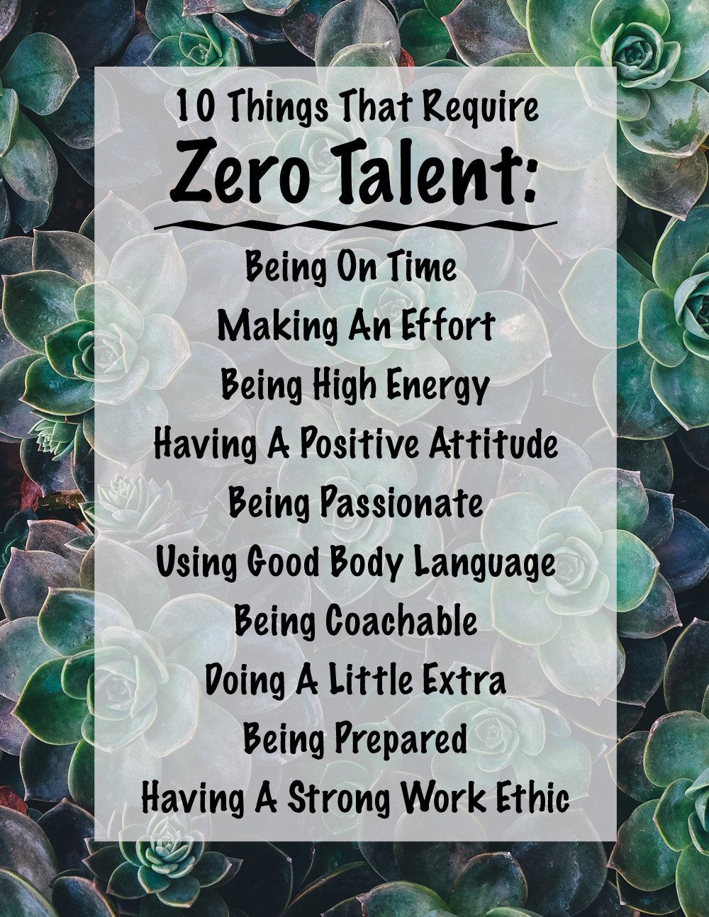 photo regarding 10 Things That Require Zero Talent Printable identify 10 Factors That Have to have Zero Skill, Inspirational Print