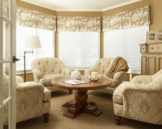 Shop Valance Products On Houzz Window Treatments Living Room Traditional Family Rooms Bay Window Treatments