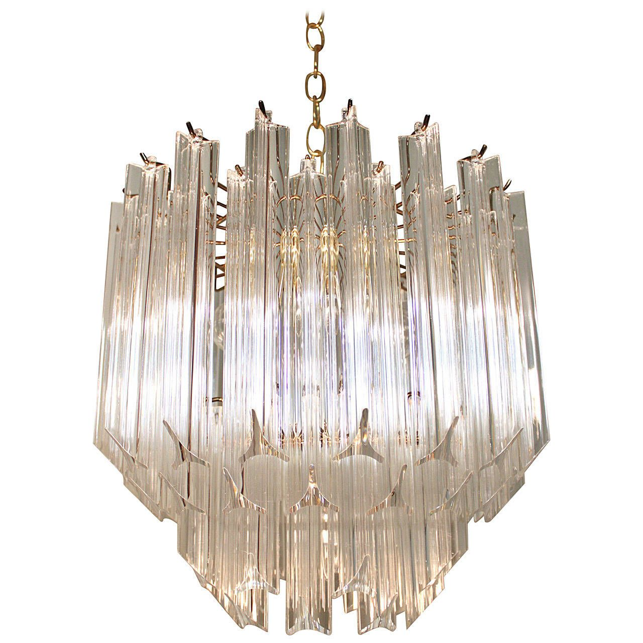 Lucite and brass cascading chandelier to be httpwww lucite and brass cascading chandelier arubaitofo Gallery