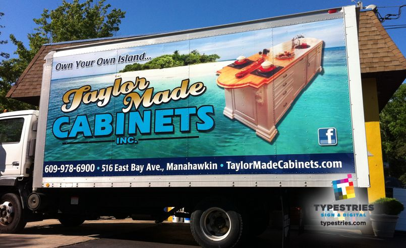 Taylor Made Cabinets Full Color 3m Controltac Box Truck With Taylor Made Cabinets At Taylor Made Cabinets Car Wrap Business Promotion Wraps