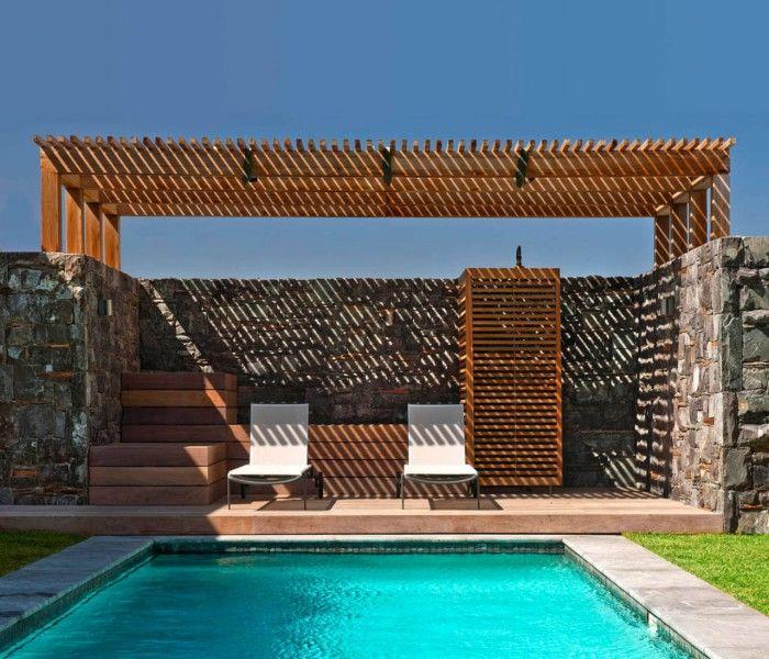 Big Bay Beach House: Wooden Deck Pergola For Swimming Pool