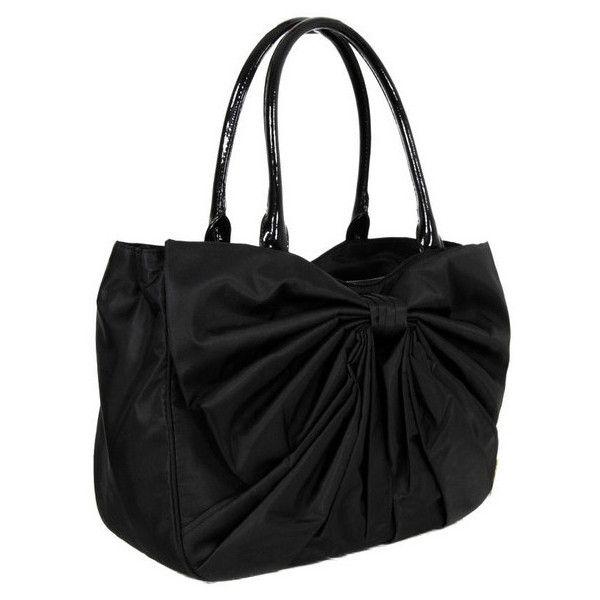 c954395b3d44d3 Lulu Guinness Medium Wanda Bow Black Bag. ($211) ❤ liked on Polyvore  featuring bags, handbags, purses, bolsas, accessories, borse, women, lulu  guinness ...