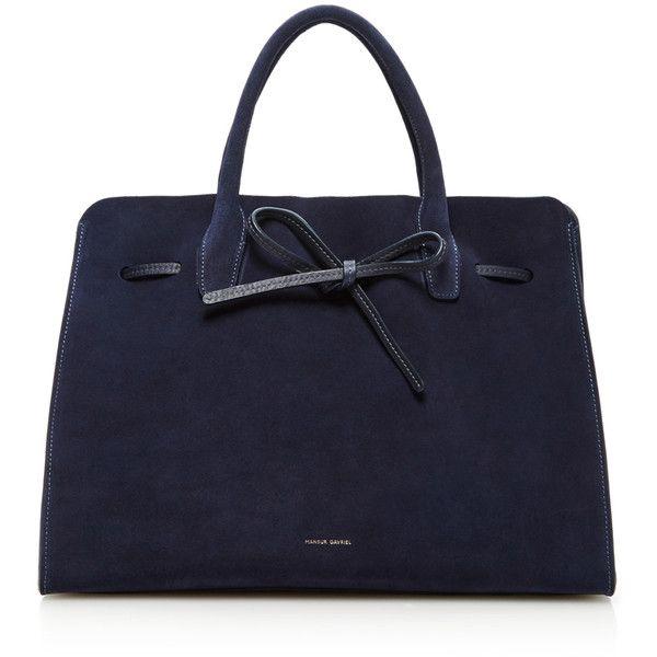 Mansur Gavriel Large Sun Bag ($1,095) ❤ liked on Polyvore featuring bags, handbags, suede bag, top handle handbags, mansur gavriel handbags, mansur gavriel en suede purse