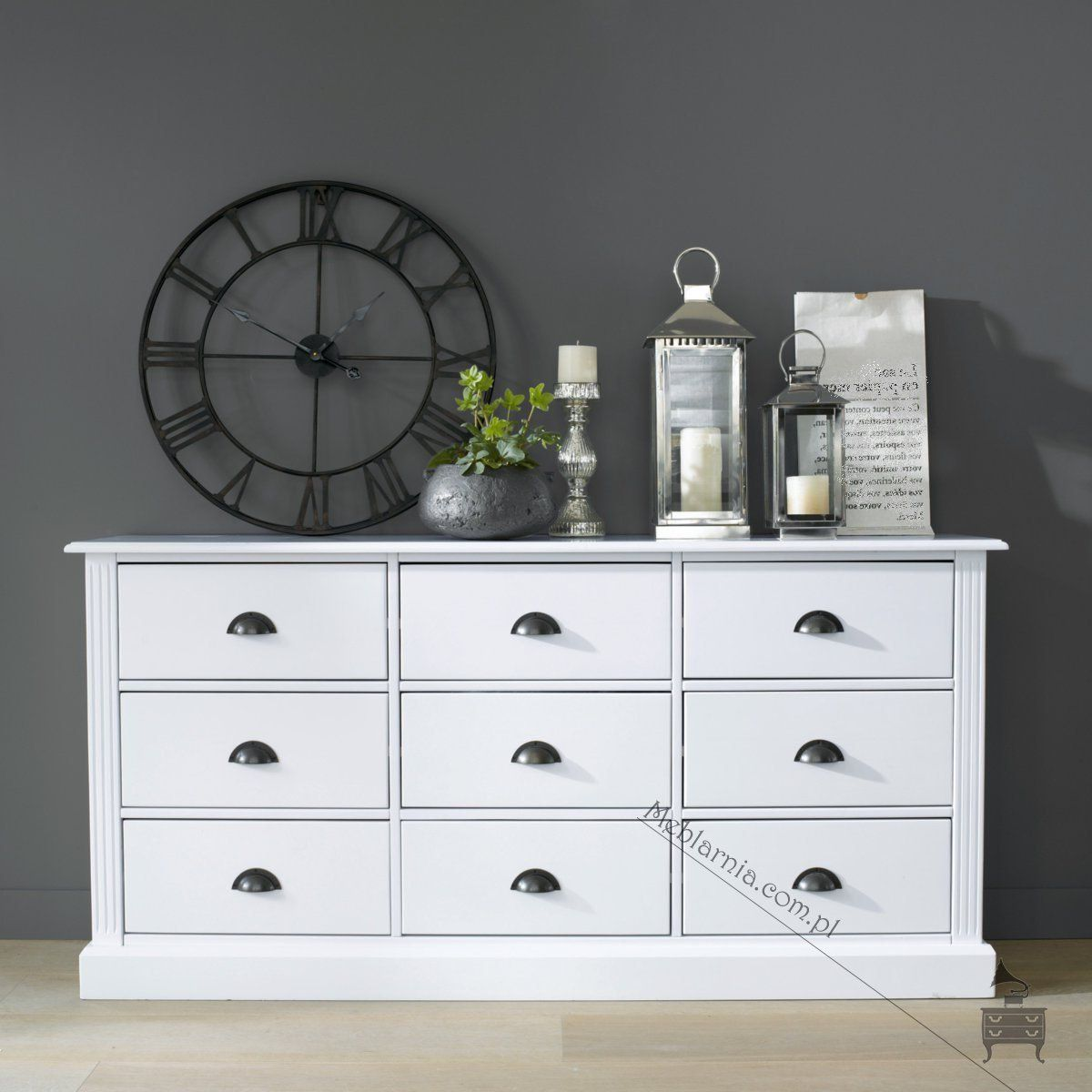 Biala Komoda W Stylu Skandynawskim Lea Komody Home Decor Furniture Home