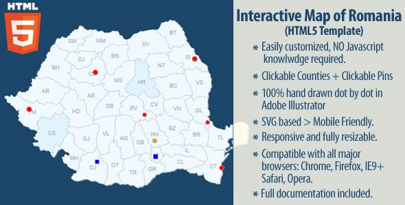 Interactive map of romania interactive map vector graphics and download free interactive map of romania clickable cities map custom svg map dealer gumiabroncs Image collections