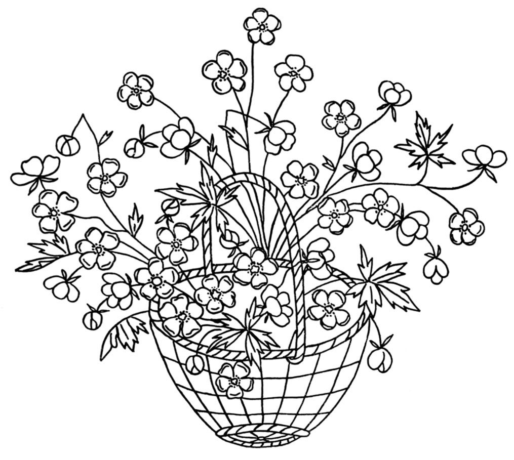 Free Flower Basket Embroidery Designs : Hand embroidery flower basket designs makaroka
