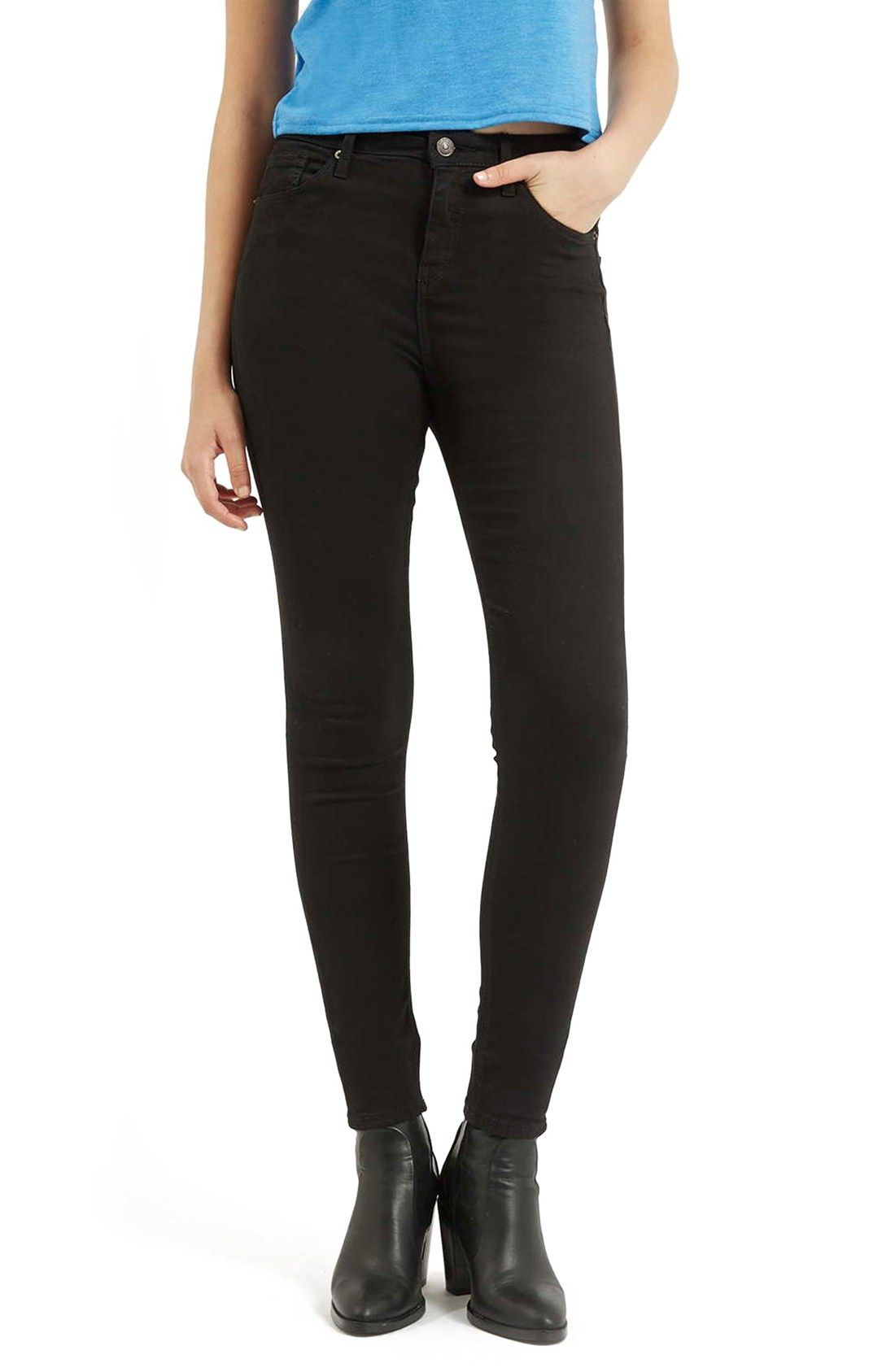 Topshop Moto 'Jamie' High Rise Ankle Skinny Jeans available at #Nordstrom