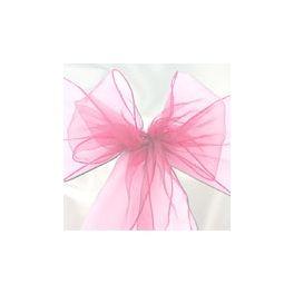 6 Nastri in Organza per Sedie Color Rosa